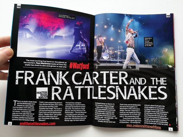 Frank Carter and the Rattlesnakes feature in Practical Visual Nihilism magazine