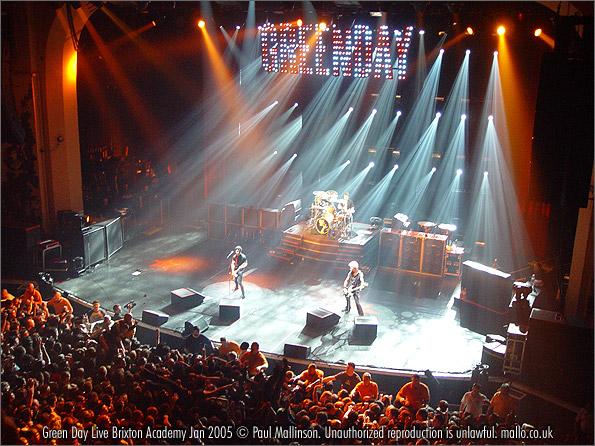 Green Day live, Brixton Academy, January 2005