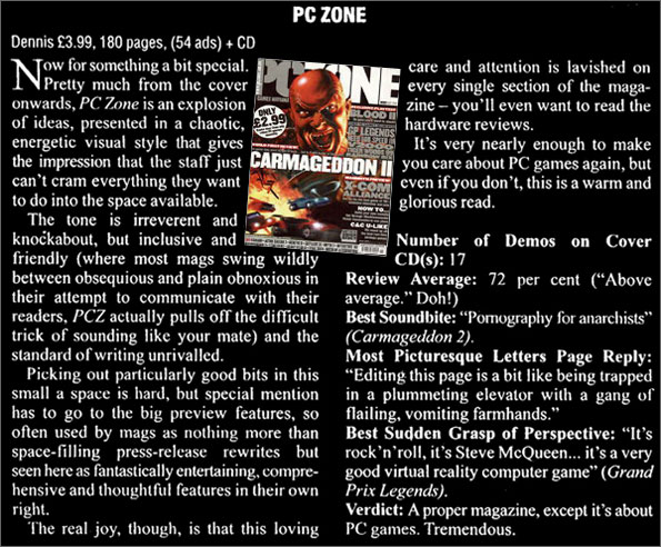 Review of PC Zone in MCV trade weekly