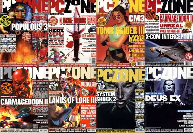 PC Zone Magazine Covers