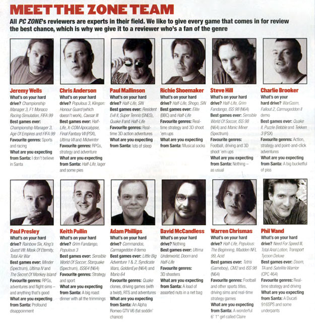PC Zone Meet The Team Xmas 98