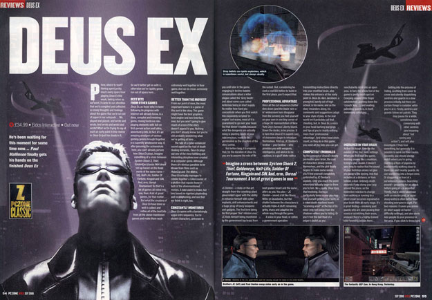 World Exclusive First Review of Ion Storm's Deus Ex